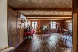 FAMILY ROOM FILLED WITH ANTIQUES