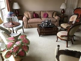 A room setting showing the caliber of items being offered for sale.