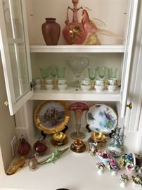 Porcelain, Venetian glass, etc.