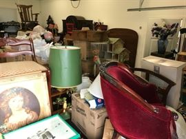 There's a doll collection in there, along with doll houses, and MORE!
