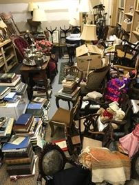 """A view of the items in storage awaiting the May """"Phase Two"""" sale."""