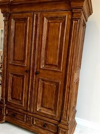and THIS...Amazing TV Cabinet and/Or Armoire...At Least 8' Tall...You Must See!...