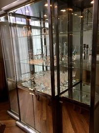 Well...The Lighted Chrome and Glass China Cabinet is Back Up For Sale Again...Sorry For The Confusion...