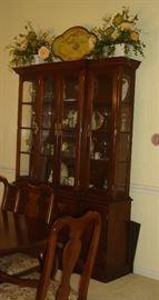 Hitchcock cherry china cabinet