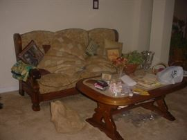 Comfortable sofa and coffee table