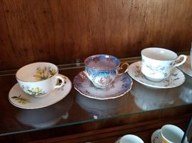 Tea cups and saucer collection