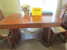 1938 Art Deco waterfall style dining table
