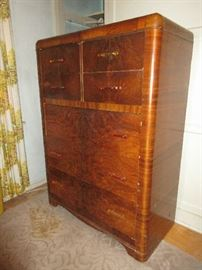 1938 Art Deco Waterfall style chest of drawers