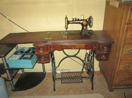 Champion treadle sewing machine (not electric)