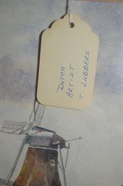 Framed Art - Dutch Artist T. Lubbers