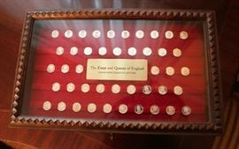 Kings and Queens of England Silver Coin Collection