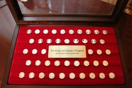 Kings and Queens of England Silver Coin Collection 2