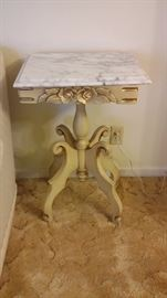 Matching marble top lamp table