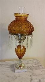 Vintage electric parlor lamp