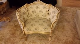 Hand carved French formal chair