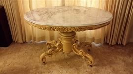 Hand carved marble top table