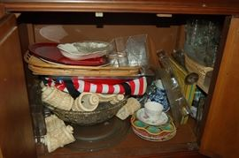 Misc Holiday decor everywhere. If you need table cloths, we have 100's!