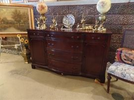 Mahogany sideboard with storage