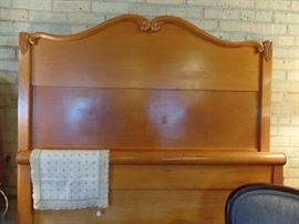 Maple headboard
