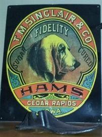 Sinclair & Co Hams Advertising Sign