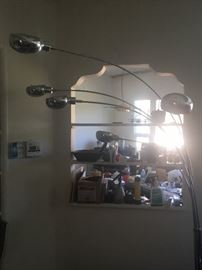 •	Mid-Century arch chrome floor lamp