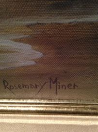 Rosemary Miner, a well known artist in the Carmel area,   has sold paintings all over the world.