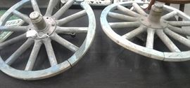 Rare Antique wooden Chevy wheels