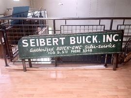 Painted 1930s GMC truck sideboards BUICK dealership advertising
