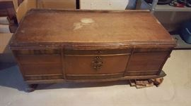 $75  Hope chest   as is