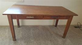 $40   Large, oak desk   as is