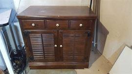 $30  Louvered door cabinet