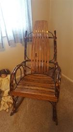 $50  Cane back wood rocking chair
