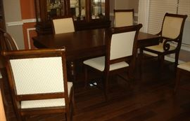 Dining table with eight (8) chairs