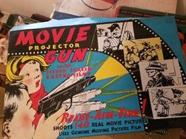 Movie projector gun