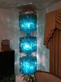 The Blue Capiz Shell Light