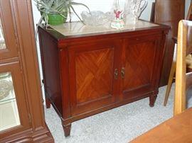 Marble top 2 door cabinet