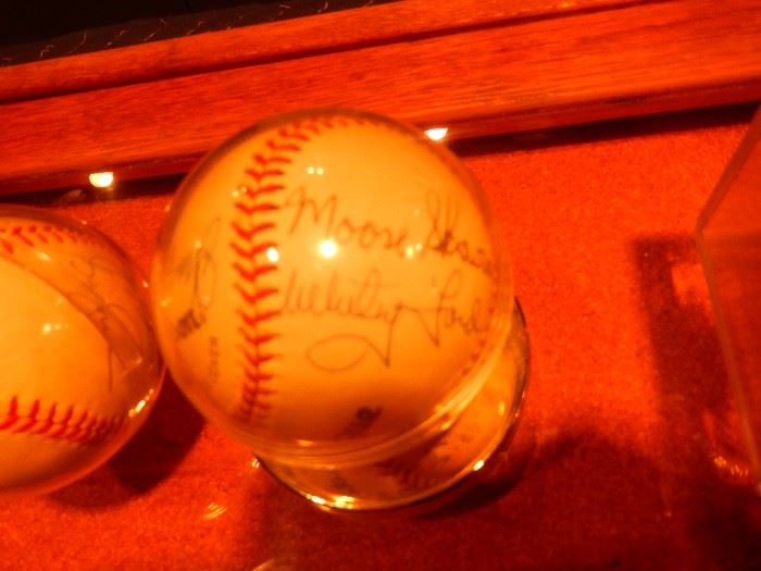 Yankee greats baseballs signed  Mantle, Berra, Ford, Larsen, Nettles, Bauer, and more. All signed by person at Fantasy Camp 1998
