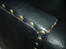 Close up of Nailheads on Thomasville Library Chairs