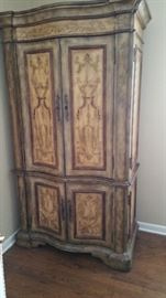 Beautifully psinted Hooker armoire ftom Marshall Fields.