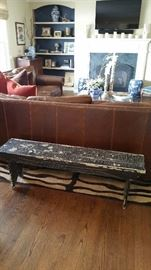 Antique painted bench.