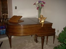 Kimball Baby Grand Piano and Bench (with storage)