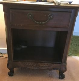 Pair of matching nightstands French Provincial.