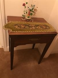 Singer sewing machine with attachments