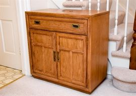 "BUY IT NOW!  Lot # 200, Vintage Stanley Furniture Wood Bar Cabinet, $250 (Approx. 34"" L x 18"" W x 34"" H with leaves closed)"
