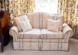 Neutral Upholstered 2-Seat Loveseat / Sofa
