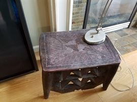 Two of these neat African Carved Tables