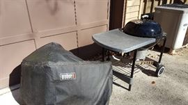 Weber kettle and table combo