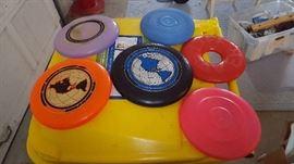 Vintage 1966 1980's Wham-O frisbees
