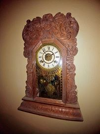 antique wall clock ornate