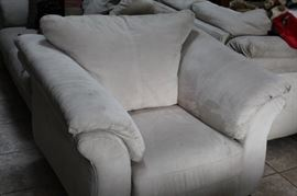 overstuffed chair ,ottoman, matching loveseat and sofa